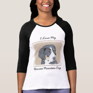 Bernese Mountain Dog Puppy Painting - Original Art T-Shirt