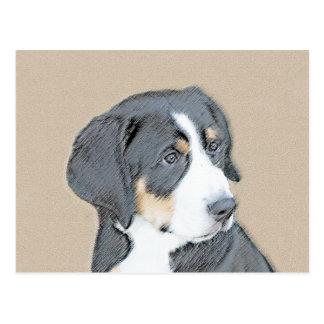 Bernese Mountain Dog Puppy Postcard