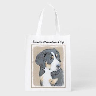Bernese Mountain Dog Puppy Reusable Grocery Bag