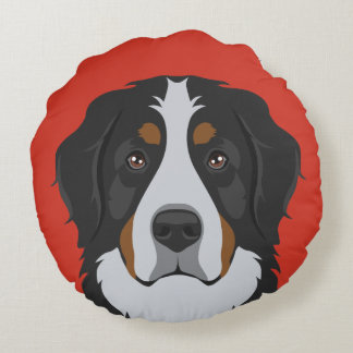 Bernese Mountain Dog Round Cushion