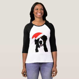Bernese Mountain Dog Santa Tshirt