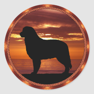 Bernese Mountain Dog Sienna Sunset Stickers
