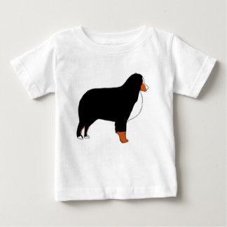 Bernese Mountain Dog silhouette rust Baby T-Shirt