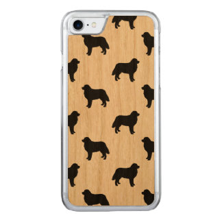 Bernese Mountain Dog Silhouettes Pattern Carved iPhone 8/7 Case