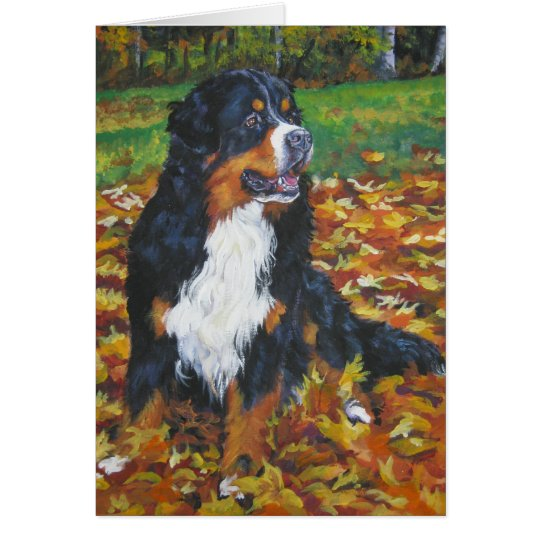 Bernese Mountain Dog Thanksgiving Card