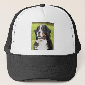 Bernese mountain dog trucker hat