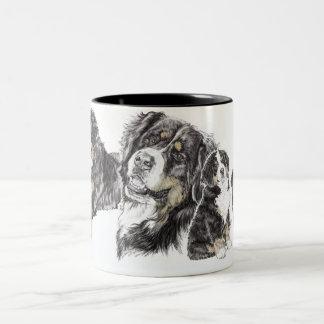 Bernese Mountain Dog Two-Tone Coffee Mug