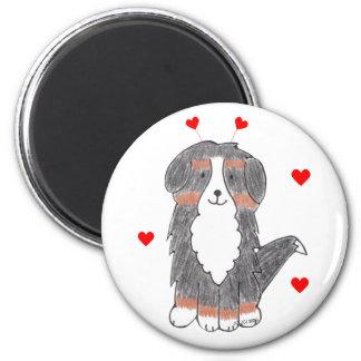 Bernese Mountain Dog Valentine Ears Magnet