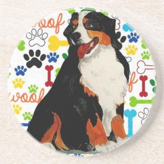 Bernese Mountain dog woof paw bone Coaster