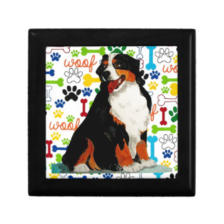 Bernese Mountain dog woof paw bone Gift Box