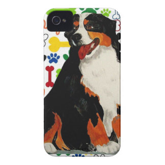 Bernese Mountain dog woof paw bone iPhone 4 Cover