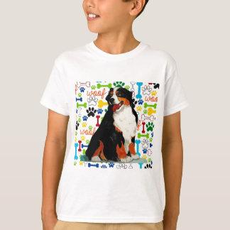 Bernese Mountain dog woof paw bone T-Shirt
