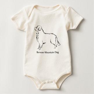 Bernese Mountian Dog Apparel Baby Bodysuit