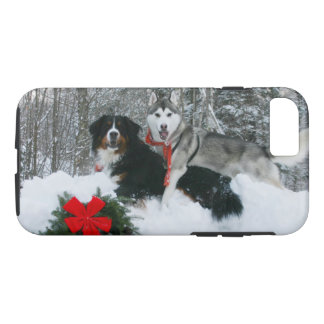 Bernese Mt Dog and Siberian Husky Phone Case