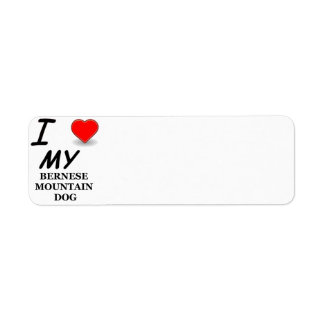bernese mt dog love return address label
