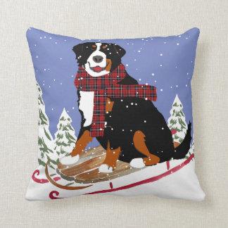 Bernese Mt Dog Sled Cushion