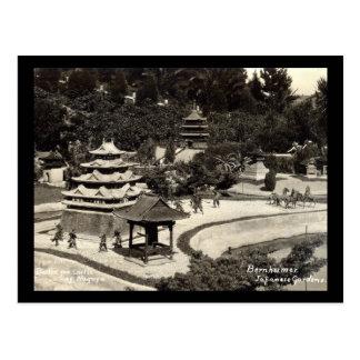 Bernheimer Japanese Gardens 1934 Vintage Postcard