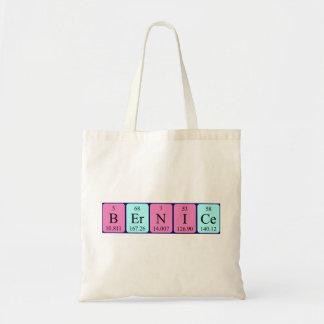 Bernice periodic table name tote bag