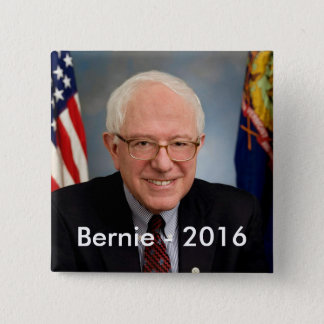 Bernie 2016 15 cm square badge