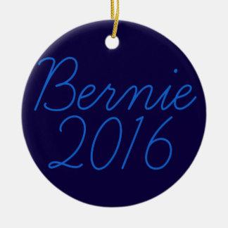 Bernie 2016 Cursive Round Ceramic Decoration