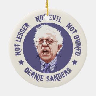 Bernie - Not Lesser Round Ceramic Decoration