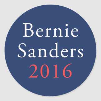 Bernie Sanders 2016 Navy Circle Classic Round Sticker
