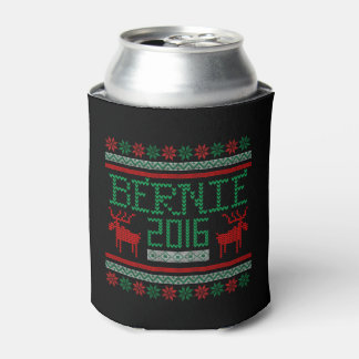 Bernie Sanders 2016 President Ugly Holiday Sweater Can Cooler