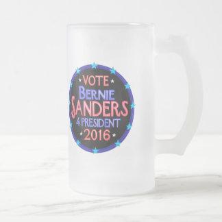 Bernie Sanders 4 President Political Revolution Frosted Glass Mug