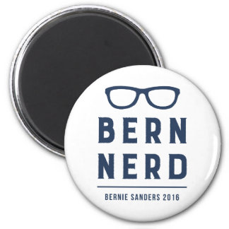 Bernie Sanders Bern Nerd 2016 6 Cm Round Magnet