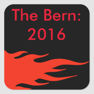 Bernie Sanders bumper sticker. Square Sticker