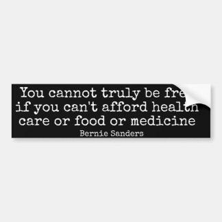 Bernie Sanders Bumpersticker FREE Bumper Sticker