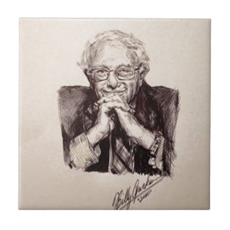 Bernie Sanders by Billy Jackson Ceramic Tile