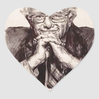 Bernie Sanders by Billy Jackson Heart Sticker