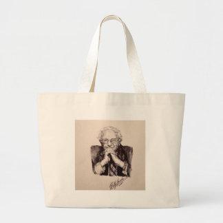 Bernie Sanders by Billy Jackson Large Tote Bag