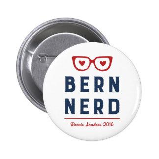 Bernie Sanders for President | Funny Bern Nerd 6 Cm Round Badge