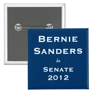 Bernie Sanders for Senate 15 Cm Square Badge