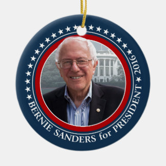 Bernie Sanders Photo President 2016 campaign gear Round Ceramic Decoration
