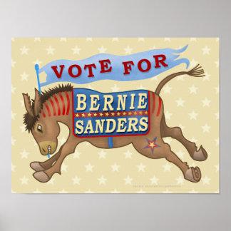 Bernie Sanders President 2016 Democrat Donkey Poster