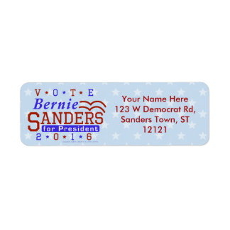 Bernie Sanders President 2016 Election Democrat Return Address Label