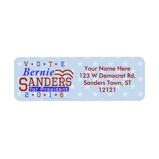 Bernie Sanders President 2016 Election Democrat Return Address Label