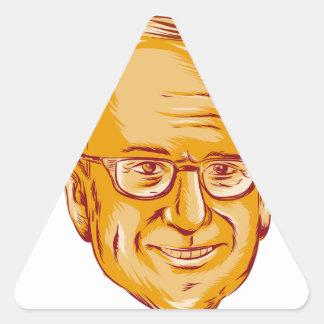 Bernie Sanders US Senator Triangle Sticker