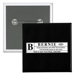 Bernie Sanders Warning Label 15 Cm Square Badge