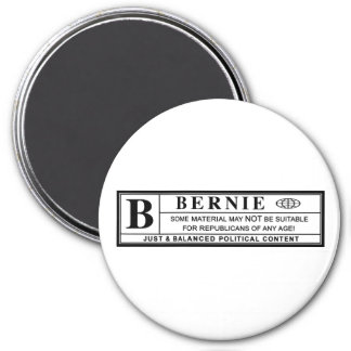 Bernie Sanders Warning Label 7.5 Cm Round Magnet