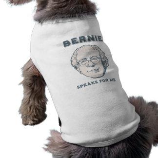 Bernie Speaks for Me Sleeveless Dog Shirt