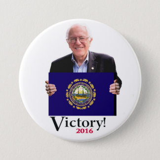 Bernie Will win the New Hampshire Primary 7.5 Cm Round Badge