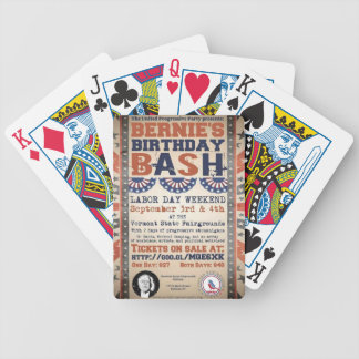 Bernie's 75th Birthday Bash and Labor Day Festival Poker Deck