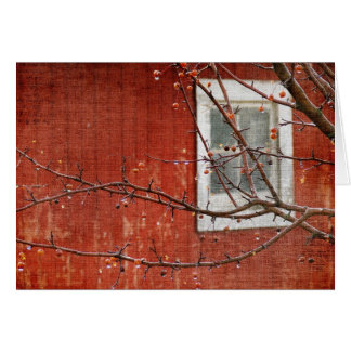 Berries and Barn Greeting Card