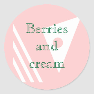Berries and cream round sticker