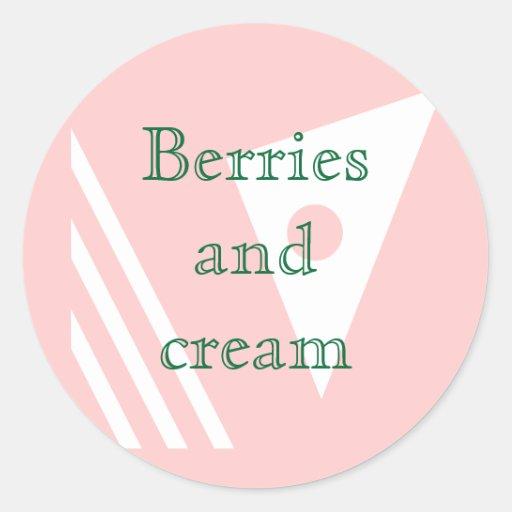 Berries and cream sticker