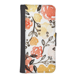 Berries and Florals iPhone SE/5/5s Wallet Case